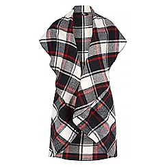 Iska - Multicoloured tartan check print sleeveless coat