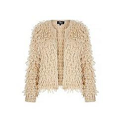 Iska - Cream Chunky Loop Knit Cardigan