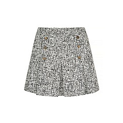 Iska - Grey fleck high waist pleat skirt