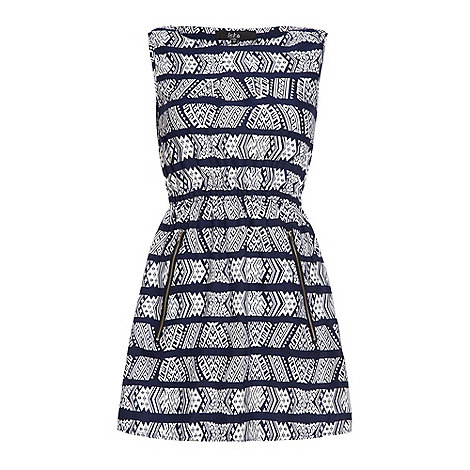 Iska - Blue Aztec strip dress