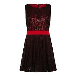 Iska - Black lace contrast prom dress