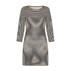 Iska - Brown striped bodycon dress
