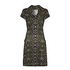 Iska - Printed cowl neck dress