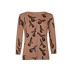 Iska - Brown hummingbird cardigan
