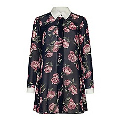 Iska - Blue floral shirt dress