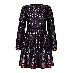 Iska - Floral long sleeved dress.