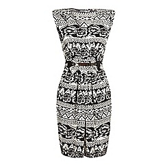 Iska - Monochrome printed dress