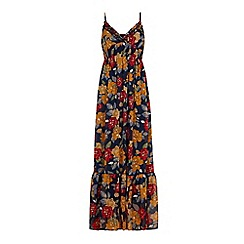Iska - Blue retro floral maxi dress