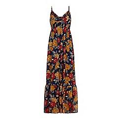 Iska - Blue retro floral maxi dress