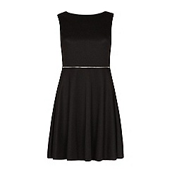 Iska - Black zip waist skater dress