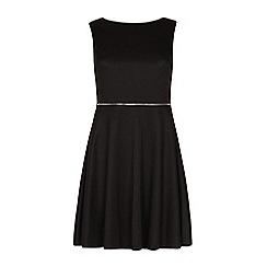 Iska - Black zip waist skater dress