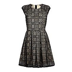 Iska - Black monochrome lace dress