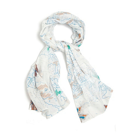 Yumi - Cream Map print scarf