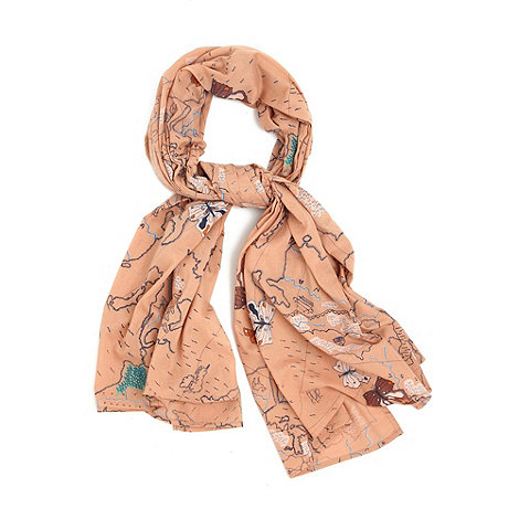 Yumi - Coffee Map print scarf