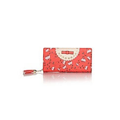 Yumi - Red Floral Print Bow Wallet