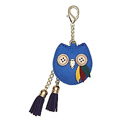Yumi - Blue Owl Embellished Bag Charm