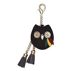 Yumi - Black Owl Embellished Bag Charm
