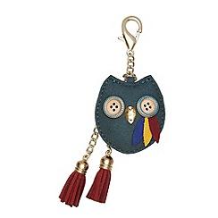 Yumi - Green Owl Embellished Bag Charm