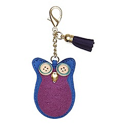 Yumi - Blue Owl Embellished Bag Accessory