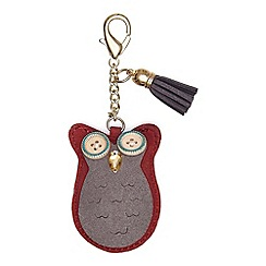 Yumi - Red Owl Embellished Bag Accessory