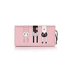 Yumi - Pink three cats wallet