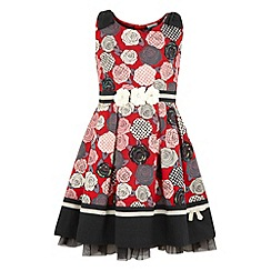Yumi Girl - Printed bow dress