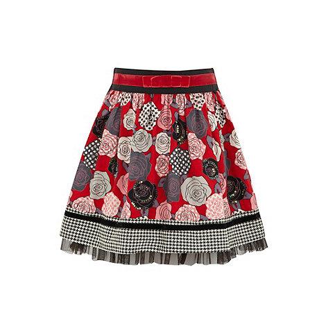 Uttam Kids - Printed flower skirt