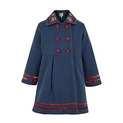 Uttam Kids - Velvet trim wool coat