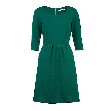 Uttam Boutique - Green Fit and flare dress