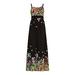Uttam Boutique - Floral butterfly print maxi dress