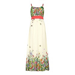 Uttam Boutique - Floral butterfly print maxi dress