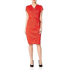 Uttam Boutique - Red Spotty wrap dress
