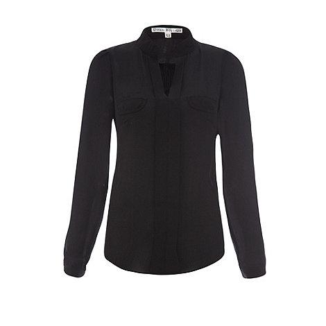 Uttam Boutique - Black Blouse with pockets