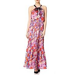 Uttam Boutique - Pink Pixelated rose maxi dress