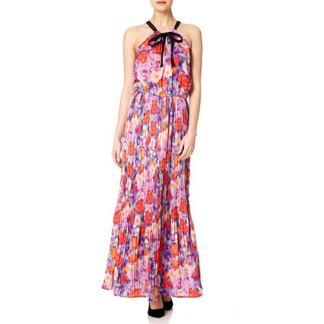Uttam Boutique - Pink Pixelated rose maxi dress