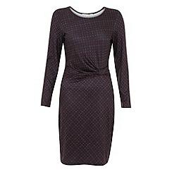 Uttam Boutique - Geo flower jersey dress