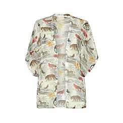 Uttam Boutique - Noah's safari print kimono cover up top