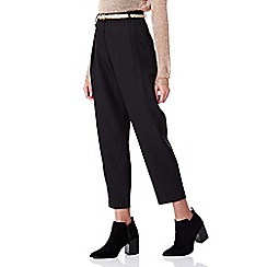 Yumi - black Relaxed Belted Trousers