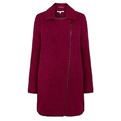 Uttam Boutique - Purple textured biker coat
