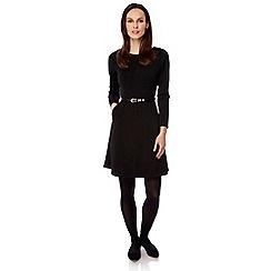 Uttam Boutique - Black textured crochet dress