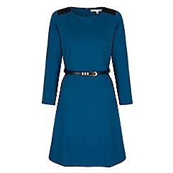 Uttam Boutique - Blue textured crochet dress