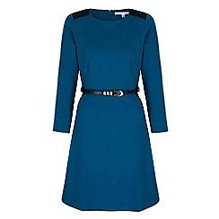Uttam Boutique - Blue textured crochet dress