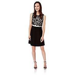 Uttam Boutique - Cream Lace Top Party Dress