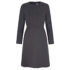 Uttam Boutique - Grey textured ponte day dress