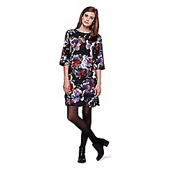 Yumi - Multicoloured  Tunic Dress With Cherry Blossom Print