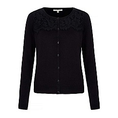 Uttam Boutique - Black lace cardigan