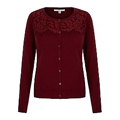Uttam Boutique - Red lace cardigan