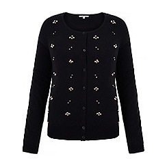 Uttam Boutique - Black embellished cardigan