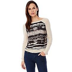 Uttam Boutique - Pink arctic print raglan jumper