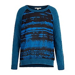 Uttam Boutique - Blue arctic print raglan jumper